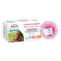 Love & Green - Pack 4x52 Couches hypoallergéniques Jumbo - T3, 4-9Kg