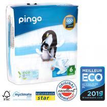 Pingo - 32 Couches écologiques jetables T6 25kg et +