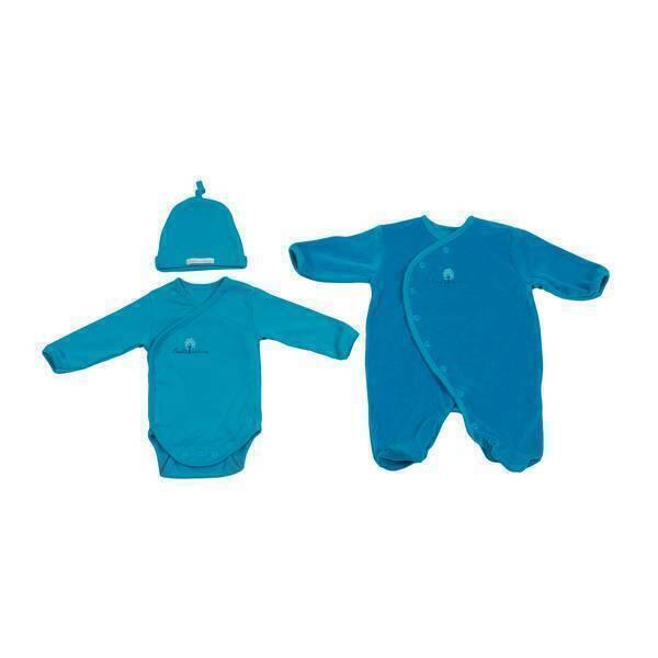 Eveil & Nature - Set pyjama velours - 0 à 3 mois - Lagon