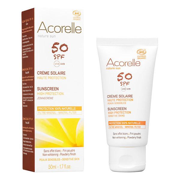 Acorelle - Crème Solaire visage SPF50 50 ml