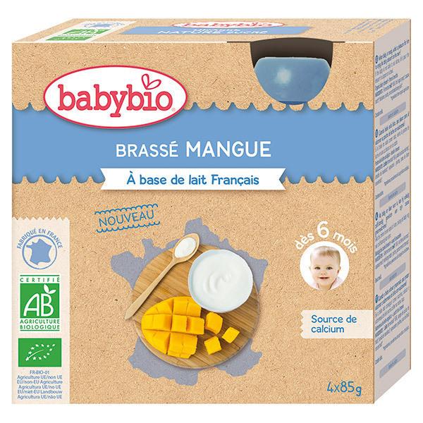 Babybio - Brassé mangue gourde dès 6 mois 4x85g