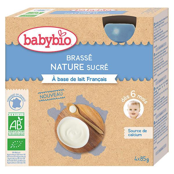 Babybio - Brassé nature sucré gourde dès 6 mois 4x85g
