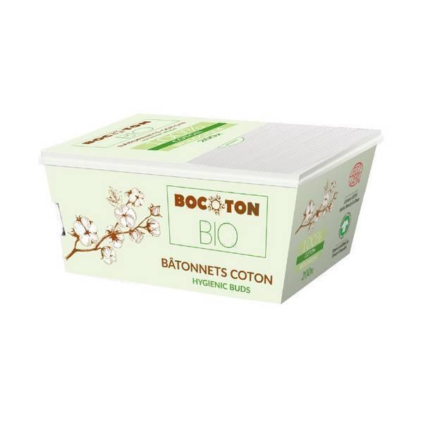 Bocoton Bio - 200 bâtonnets Bio - boîte carton