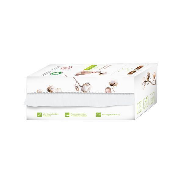 Bocoton Bio - Lingettes sèches Bébé Bio en rouleau x 50