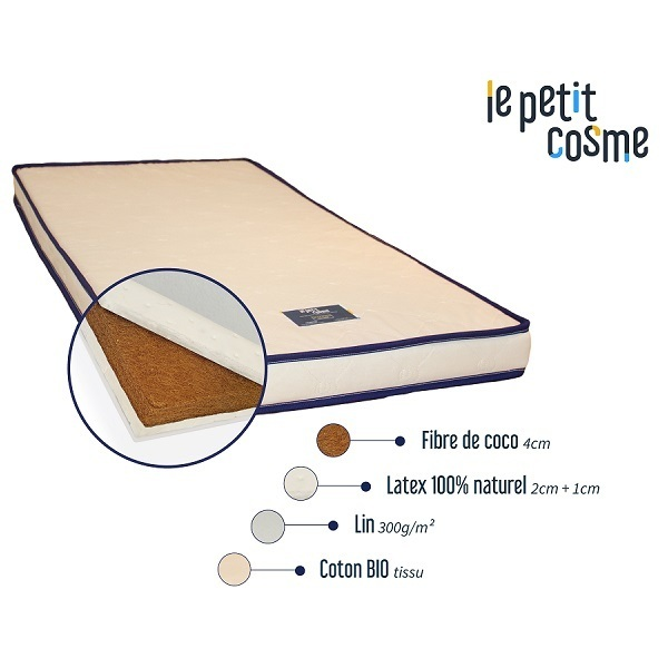 matelas b b en latex le petit cosme 70 x 140 cm cosme literie la r f rence bien. Black Bedroom Furniture Sets. Home Design Ideas
