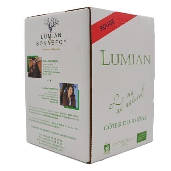 Domaine Lumian - AOP Côtes du Rhône - Rouge Bib 5L