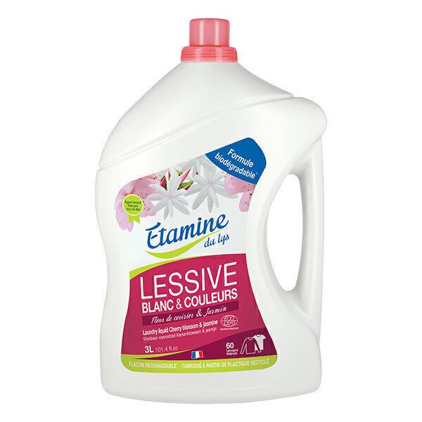 Etamine du Lys - Lessive liquide Fleur de cerisier Jasmin 3L