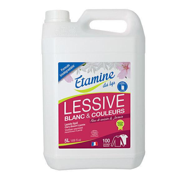 Etamine du Lys - Lessive liquide Fleur de cerisier Jasmin 5L