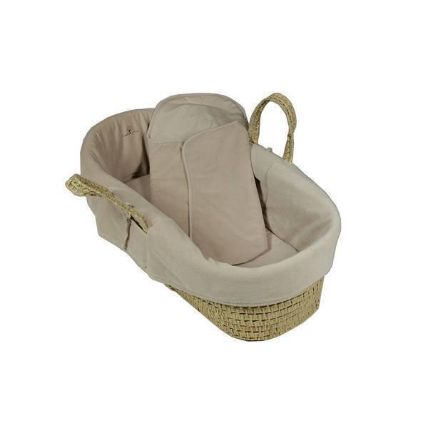 couffin en osier et coton bio beige eveil nature acheter sur. Black Bedroom Furniture Sets. Home Design Ideas