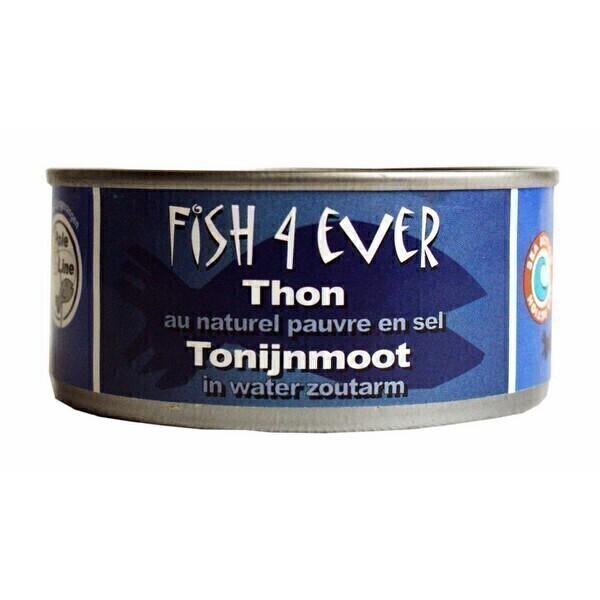 Fish4Ever - Lot de 3 boites de Thon au naturel, pauvre en sel 160 gr