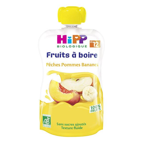 Hipp - Gourde Pêches Pommes Bananes 120ml