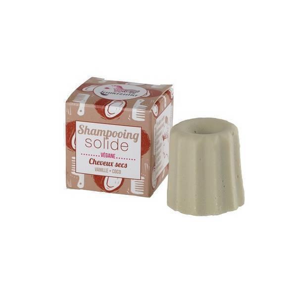 Lamazuna - Shampooing solide cheveux secs Vanille Coco 55g