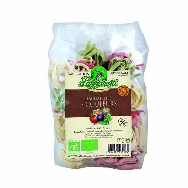 Lazzaretti - Tagliatelles 3 couleurs 250g