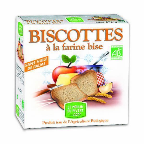 Le Moulin du Pivert - Biscotte Farine bise 270g