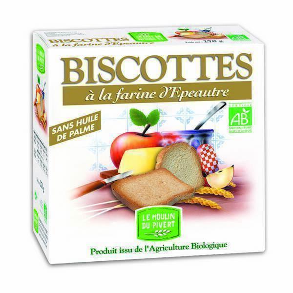 Le Moulin du Pivert - Biscotte Epeautre 270g