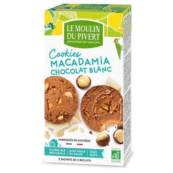 Le Moulin du Pivert - Cookies Macadamia extra pépites chocolat blanc 175g