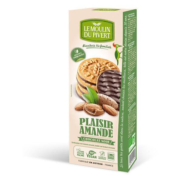 Le Moulin du Pivert - Plaisir Amande nappés Chocolat Noir 130g