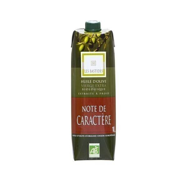 Les Bastides - Huile olive vierge extra bio Note Caractère 1L