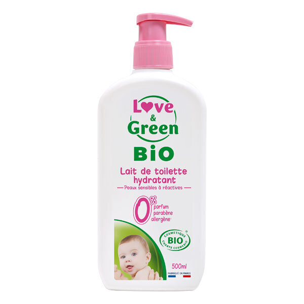 Love & Green - Pack Laits de toilette hypoallergéniques - 500ml x2
