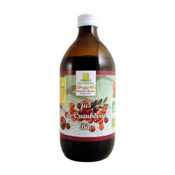 Moulin des Moines - Jus de cranberry 100% pur jus 500ml