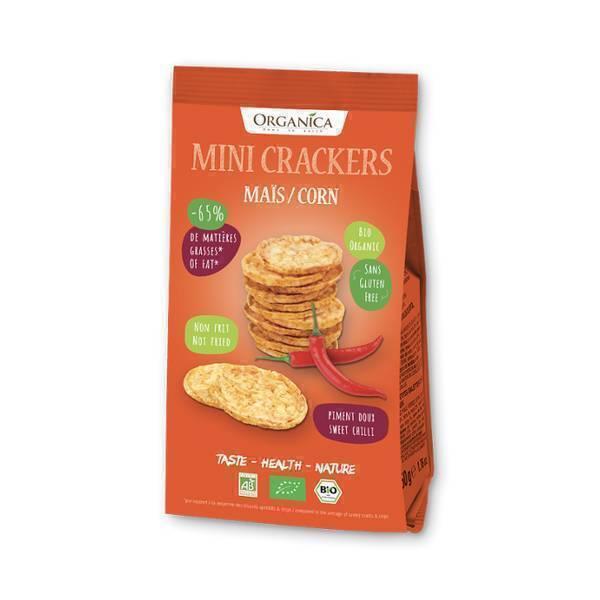 Organica - Mini crackers bio maïs piment doux 50g