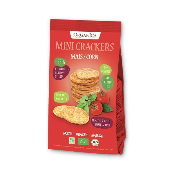 Organica - Mini crackers maïs tomate basilic 50g