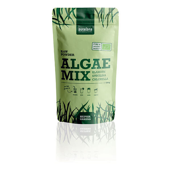 Purasana - Algae Mix Klamath Spiruline Chlorella en poudre x 200g