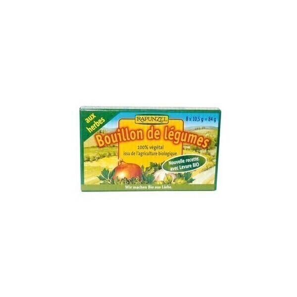 Rapunzel - Bouillon cube légumes aux herbes 84g