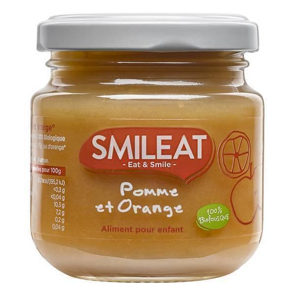 Smileat - Petit pot bébé Pomme orange dès 4 mois 130g