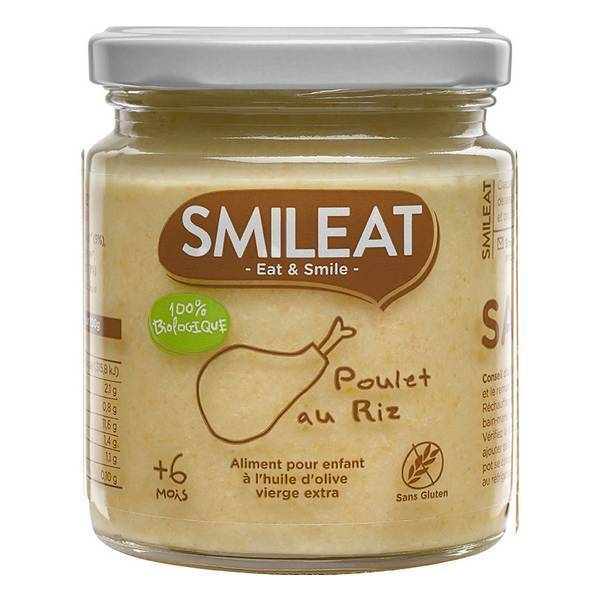 Smileat - Petit pot bébé Poulet au riz dès 6 mois 230g