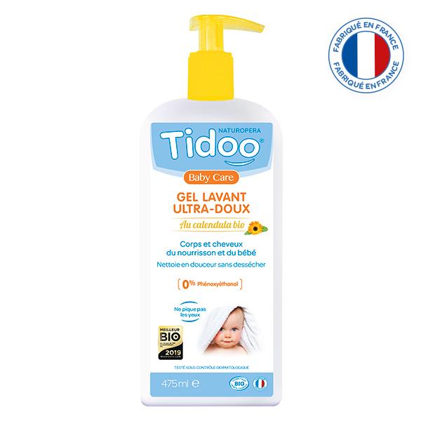 Tidoo - Gel lavant ultra doux 2 en 1 au Calendula 475ml