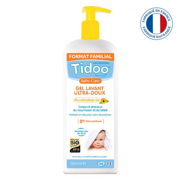 Tidoo - Gel Lavant Ultra Doux Bio 2 en 1 au Calendula 950ml