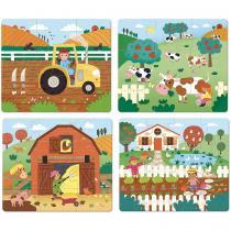 Vilac - 4 Puzzles evolutifs ferme en bois - Des 2 ans