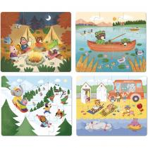 Vilac - 4 Puzzles evolutifs vacances en bois - Des 2 ans