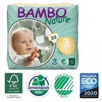 Bambo Nature - 33 couches jetables T3 Midi 5-9 Kg