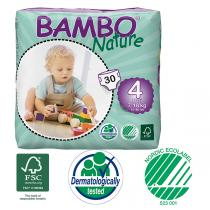 Bambo Nature - 30 couches jetables T4 Maxi 7-18 Kg