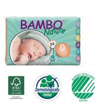 Bambo Nature - Pack 3 paquets 24 couches jetables T0 Prémature 1-3 Kg