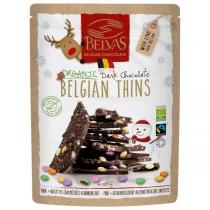 Belvas - Éclats de chocolat noir Belgian Thins Noël 120g