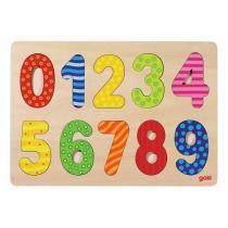 Goki - Chiffres puzzle 0-9 - Des 2 ans