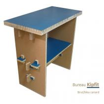 Cartonstyl - Bureau debout Kipfit en carton - Brut et Bleu