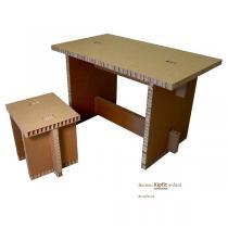 Cartonstyl - Bureau enfant Kipfit en carton - Brut