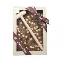 Chocolaterie Castelain - Chocolat au Lait à casser Abricots Noisettes Raisins 400g
