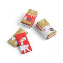 Chocolaterie Castelain - Lot 5 tablettes chocolat noir de Noël 30g