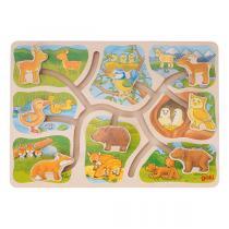Goki - Puzzle à pousser : Où est mon petit? - Dès 3 ans