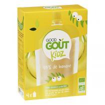 Good Gout - Gourde Kidz Banane bio 4x90g