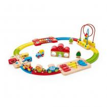 Hape - Chemin de fer puzzle arc-en-ciel - Dès 18 mois