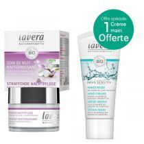 Lavera - Lot Soin de nuit Karanja 50ml + 1 Crème mains 20ml offerte