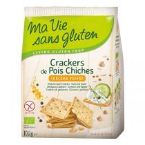 Ma Vie Sans Gluten - Crackers de pois chiches Curcuma poivre 100g