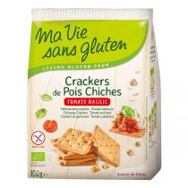 Ma Vie Sans Gluten - Crackers de pois chiches Tomate basilic 100g