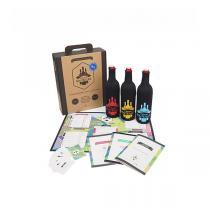 Mystères et Bonnes bouteilles - Coffret jeu de dégustation vins BIO - 3x75CL